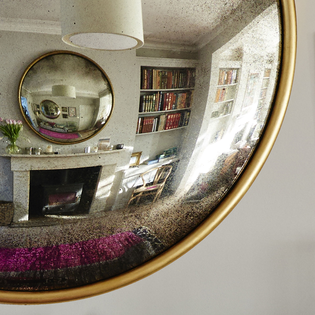 Reid & Wright Antiqued Convex mirror