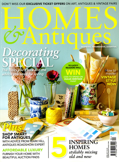 Homes & Antiques April 2017 Reid & Wright mirrors