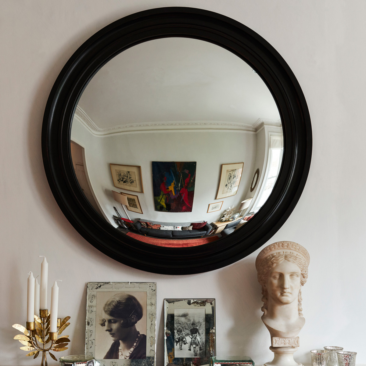 Reid & Wright plain convex mirror