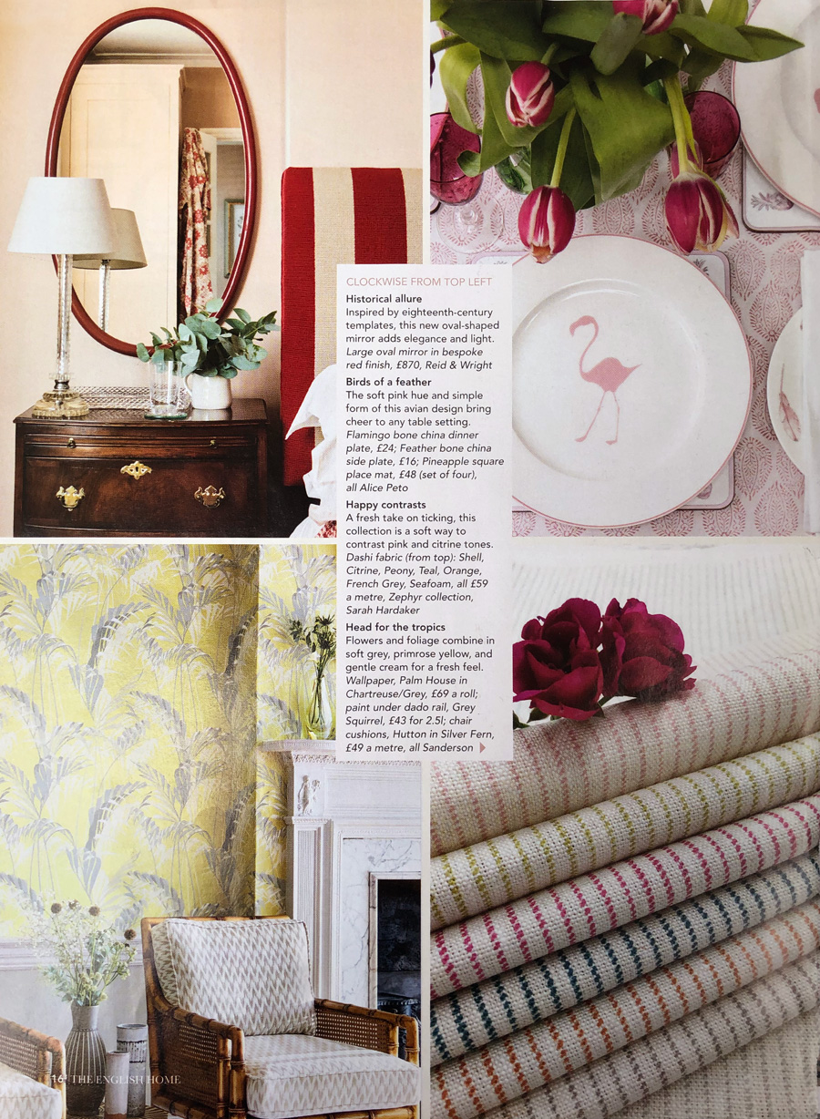 The English Home April 2019 Reid and Wright mirrors